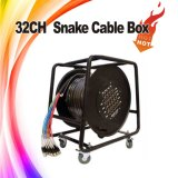 Black Audio Snake Cable Management Box