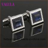 Ligações de punho francesas 339 do diamante da camisa dos homens de VAGULA Gemelos