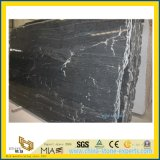 Kitchen及びBarthroom Floor/Wallのための磨かれたBlack Marble Stone Tiles