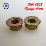 스레드된 연결 플랜지를 가진 DIN 6923 플랜지 견과