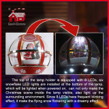 LED Lights Decorations를 가진 눈 Globe Christmas Street Lamp