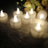 정원 Decoration를 위한 플라스틱 Yellow Light LED Tealight Candle