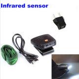 Grampo infravermelho do sensor do diodo emissor de luz da lâmpada recarregável 3 da caça da pesca na luz do tampão