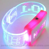 Plástico LED Fashing Bracelets con Logo Printed (4019)