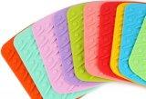Onderlegger voor glazen van de Lijst van Placemat van het Silicone van de Toebehoren van de keuken de Vierkante