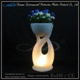 Crisol de flor material del jardín del PE para los muebles del LED