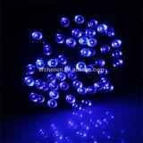 Luz solar da corda do diodo emissor de luz de 8 cores para toda a decoração dos feriados