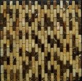 Tuile de mosaïque de marbre en pierre normale de couleur mélangée pour le mur de matériau de construction de Chambre (FYSM071)