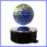 LED Light MP3 Support TF Card Aux Play를 가진 무선 Bluetooth Globe Maglev Speaker