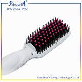 Cepillo de cerámica PTC de la enderezadora del pelo del anión que calienta el hierro electrónico del pelo de Brosse Lisseur Cheveux Escova Alisadora del peine del LCD de 5 velocidades