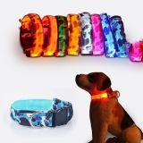 Collare dell'animale domestico di sicurezza di notte dell'istantaneo del collare del cane LED
