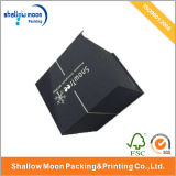 Atacado Black Luxury Hot Silver Stamping Packaging Box (QY150020)