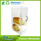 2 Tiers Clear Stackable Acrylic Cake Display Case