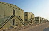 カタールのサンドイッチパネルが付いている鋼鉄プレハブの寮の家