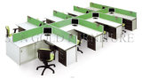 Alumnium Frame (SZ-WS310)를 가진 Tipical Wooden 6 Seats Office Cubicles