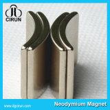 Подгонянный магнит мотора неодимия формы дуги плакировкой Ni-Cu-Ni
