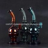 Primärfarben-Schädel-Form-Wasser-Rohr-Glaspfeife mit Rad Perc
