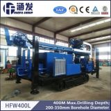 con eficacia alta con la plataforma de perforación hidráulica de gran alcance del compresor de aire, rotatoria de Hfw400L y del martillo de agua del receptor de papel