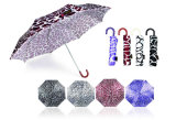 3 ombrelli compatti antivento aperti del manuale della sezione