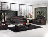 Leather italiano classico Sofa con Alto-densità Sponge Sofa Set