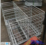 Складно, Stackable Galvanized Wire Mesh Pallet Cage для Warehouse Storage