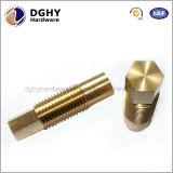 O CNC do profissional da elevada precisão feito à máquina parte o parafuso de polegar principal serrilhado de bronze