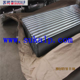 Tôle d'acier ondulée galvanisée par épaisseur de mesure