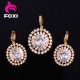 De in het groot Vrouwen vormen Goud Geplateerde Juwelen die in Recentste Ontwerp worden geplaatst