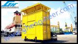 Máquina de ensaque Containerized móvel do Ce na porta
