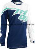 Motocross blu del poliestere sublimato MX di colore che corre il pullover (MAT89)
