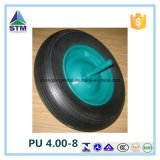 Pu 4.00-8 Solid Puncture Proof Wheelbarrow Wheels met 20mm Bearings