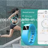 Wristband esperto do cabo flexível brandnew de Fitbit do projeto 2016, podómetro esperto dos baixos custos da energia de Rechargeble