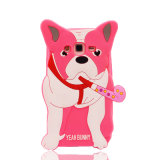 3D Geval van het Silicone van Honden voor Toebehoren van de Telefoon van Samsung J1mni J2 J3 J5 J7 de Mobiele (xsdw-061)