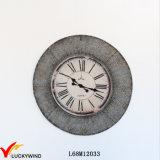 Rústico francés casero redondo del reloj de pared de la decoración