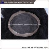 Toupee indiano dei capelli umani del Virgin per gli uomini