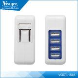 4 de saída multi-portas USB carregadores de parede de viagem para todos os telemóveis