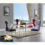 Nobler Gewebe-Edelstahl-Stuhl für Hotel-Gaststätte (HW-9400C)
