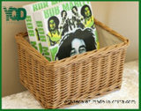 Quabrate Bamboo Color Wicker Basket с Cover, Good для Storage.