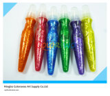 5*14ml Glitter Color Tempera Paint con Brush per Students e Kids