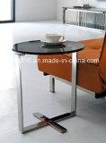 까만 유리제 강철 커피용 탁자/작은 테이블/유리제 탁자