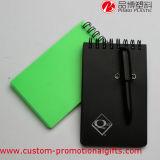 Cuaderno material portable del espiral de la cubierta de los PP con la pluma