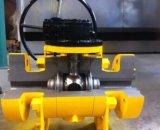 800lb de alta pressão forjou a válvula de esfera A105 de aço com caixa do sem-fim