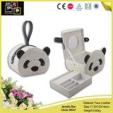 Caixa de jóia do couro da forma da panda (8047)