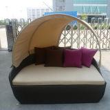 Кровать дня H-Высокой мебели патио качества напольная Wicker