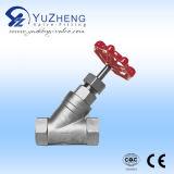 Y-Type robinet d'arrêt sphérique d'acier inoxydable de fil