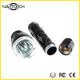 Lanterna elétrica recarregável Handheld do diodo emissor de luz do diodo emissor de luz do CREE de alumínio XP-E