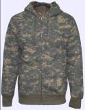 メンズはジャケット、Sweatershirtの方法Hoody、Camoを印刷した編んだ