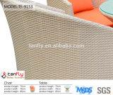 Tabela ao ar livre e cadeiras do lazer da mobília do Rattan ajustadas