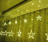 Luz colorida da corda da estrela do diodo emissor de luz Natal ao ar livre/interno da decoração