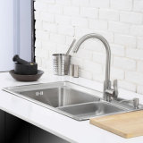 2015 grande Finish Kitchen Stainless Steel Brush One Piece Forming Sink (7545L)